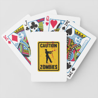 Caution Zombies Bicycle Playing Cards