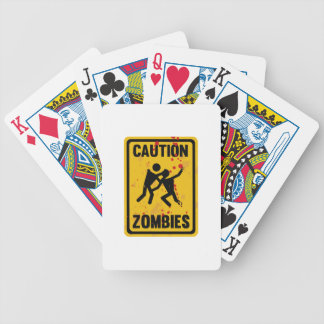 Caution Zombies Poker Deck