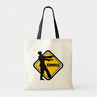 Caution Zombies Tote Bag