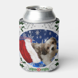 Cavachon Can Cooler, Christmas Can Cooler