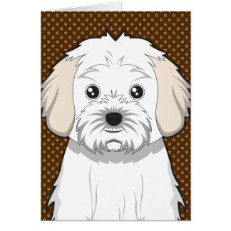 Cavachon Dog Cartoon Paws Card