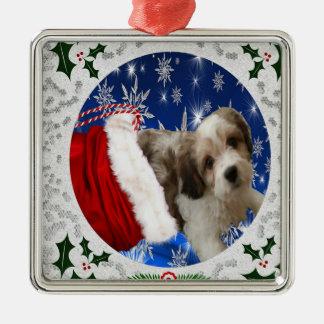 Cavachon Ornament, Christmas Metal Ornament