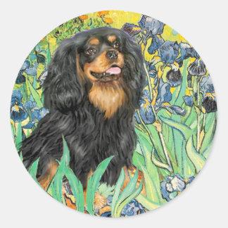 Cavalier (BT) - Irises Classic Round Sticker