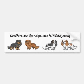 Cavalier & Chips Bumper Sticker