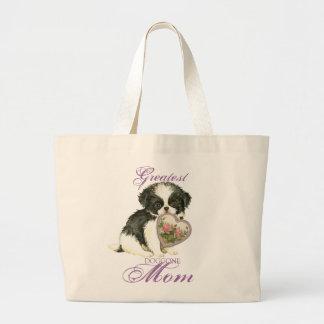Cavalier Heart Mom Large Tote Bag