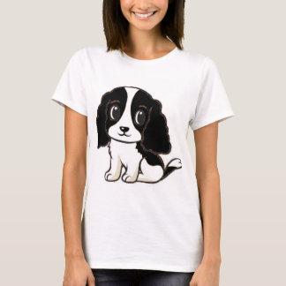 cavalier kcs black and white cartoon T-Shirt