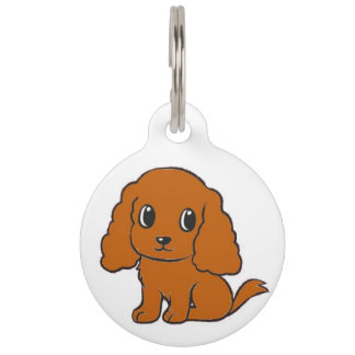 cavalier kcs ruby cartoon pet tag