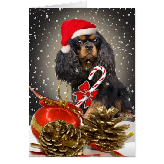 Cavalier King Charles Christmas card
