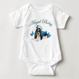 Cavalier King Charles Cute As A Button Baby Angel Baby Bodysuit