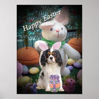 Cavalier King Charles Easter Poster