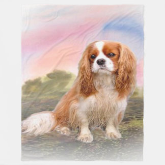 Cavalier King Charles fleece blanket