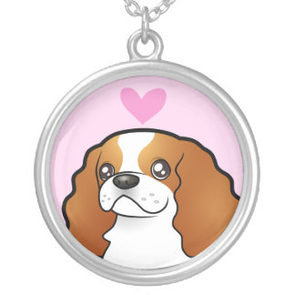 Cavalier King Charles Love Silver Plated Necklace