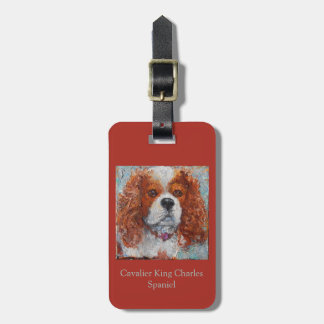Cavalier King Charles luggage tag