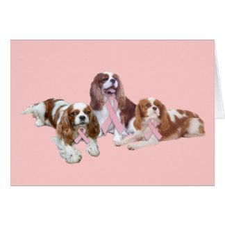 Cavalier King Charles Spaniel Breast Cancer Card