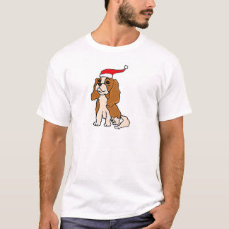 Cavalier King Charles Spaniel Christmas Art T-Shirt
