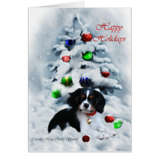 Cavalier King Charles Spaniel  Christmas Gifts Card