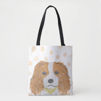 Cavalier King Charles, Spaniel, Cute Tote Bag