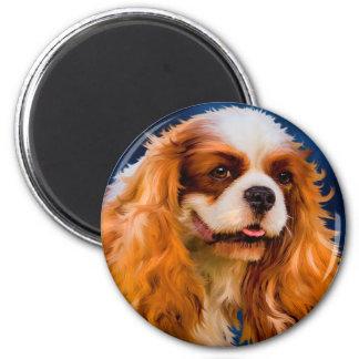Cavalier King Charles Spaniel Dog Art - Chelsea Magnet