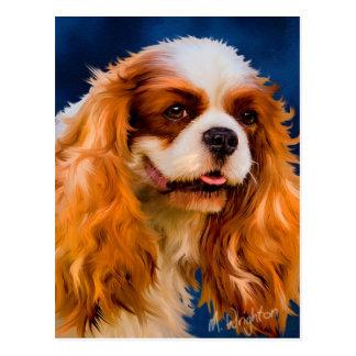 Cavalier King Charles Spaniel Dog Art - Chelsea Postcard