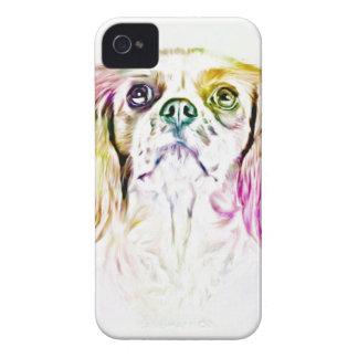Cavalier King Charles Spaniel Dog Art Painting iPhone 4 Case