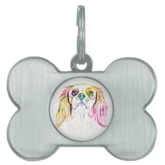 Cavalier King Charles Spaniel Dog Art Painting Pet Tag