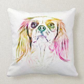 Cavalier King Charles Spaniel Dog Art Painting Throw Pillow