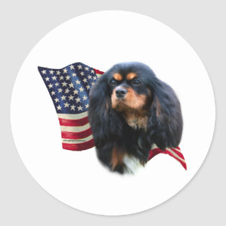 Cavalier King Charles Spaniel Flag - Sticker