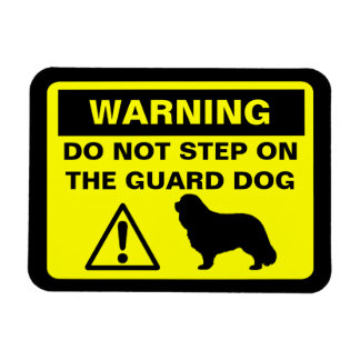 Cavalier King Charles Spaniel Guard Dog Warning Magnet