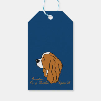 Cavalier King Charles Spaniel head silhouette Gift Tags