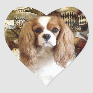 Cavalier King Charles Spaniel Heart Sticker