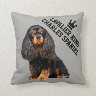 Cavalier King Charles Spaniel Illustrated Pillow