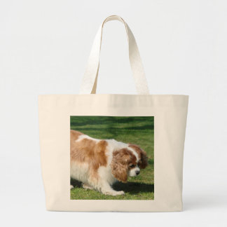 Cavalier King Charles Spaniel Large Tote Bag