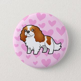 Cavalier King Charles Spaniel Love 6 Cm Round Badge