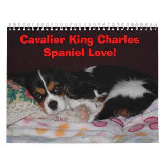 Cavalier King Charles Spaniel Love! Wall Calendar