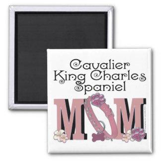 Cavalier King Charles Spaniel MOM Square Magnet
