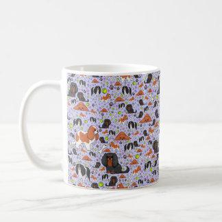 Cavalier King Charles Spaniel Mug, Purple Coffee Mug