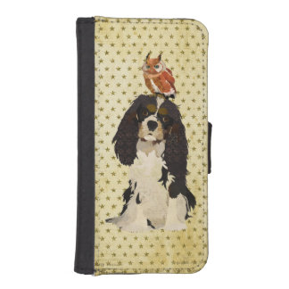 Cavalier King Charles Spaniel &  Owl Wallet Case iPhone 5 Wallet Case