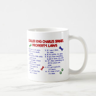CAVALIER KING CHARLES SPANIEL Property Laws 2 Basic White Mug