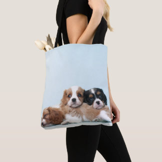 Cavalier King Charles Spaniel Puppies Tote Bag