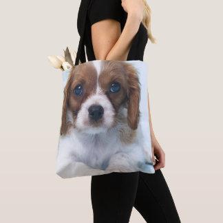 Cavalier King Charles Spaniel Puppy Tote Bag
