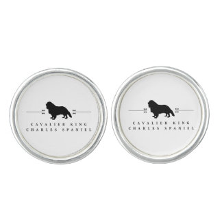 Cavalier King Charles Spaniel silhouette -1- Cuff Links