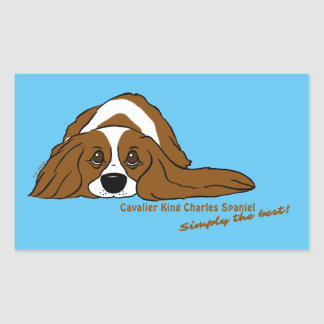 Cavalier King Charles Spaniel - Simply the best! Rectangular Sticker