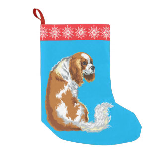 cavalier king charles spaniel small christmas stocking