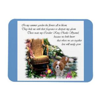 Cavalier King Charles Spaniel Summer Garden Vinyl Magnets