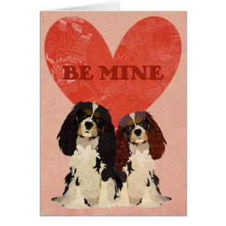 Cavalier King Charles Spaniels Love Card