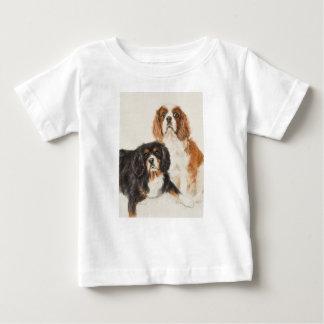 Cavalier King Charles Spaniels painting Baby T-Shirt