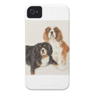 Cavalier King Charles Spaniels painting iPhone 4 Cover