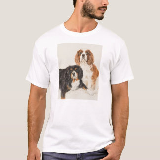Cavalier King Charles Spaniels painting T-Shirt