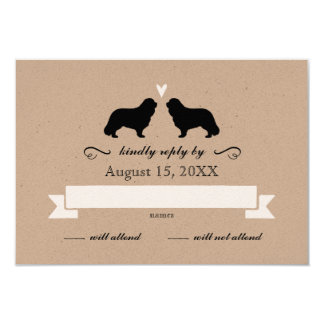 Cavalier King Charles Spaniels Wedding Reply RSVP Card