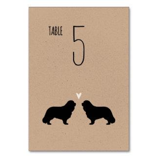 Cavalier King Charles Spaniels Wedding Table Card